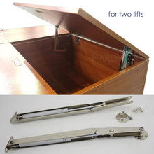 2x cabinet door lift up stay pneumatic arm mechanism support tatami seat storage(China)