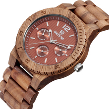 Skone Brand Men Casual Brand Wood Watches Outdoor Hiking Men's Sport Wrist Watch Male Wooden Quartz Watches reloj hombre