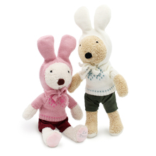 le sucre Sweater bunny 30cm Rabbit plush kids toys Kawaii Stuffed dolls high-quality gifts,clothes can be take off
