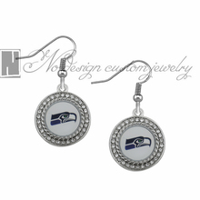 Seattle Seahawks super bowl champion Enamel Earrings Rugby  Team Fans Dangle Earrings NE0735