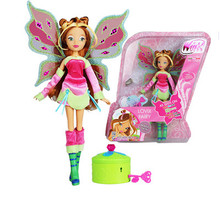 J008 Hot Sales 26CM High Winx Club Doll Bloom girl Action Figures Dolls with Wing and Mirror Comb Classic Toys For kids Gift