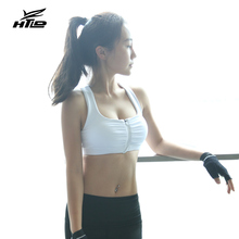 HLTD Front Zipper Sports Bra Shockproof Running Bra Women Gym Yoga Vest Sport Crop Tops Femme Bralette Lady Bras for Running(China)