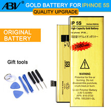 New Original ABV 0 Cycle High Capacity Li-ion Gold Replacement Battery for iPhone 5S iphone5S 5C with 8 in 1 Repair tools kits(China)
