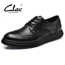 Buy CLAX Men's Brogue Shoes Genuine Leather Spring Autumn Fashion Black Dress Shoe Casual Leisure Shoe Male British Footwear Soft for $46.36 in AliExpress store