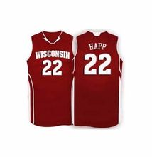 Wisconsin Badgers College #22 Ethan Happ Basketball Jerseys Retro throwback College jersey custom any size name and number(China)
