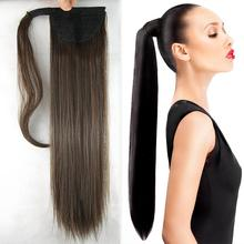 24inch 10 colors Hair Long Straight Clip In Ponytail Hair Extensions Hairpiece Fake Hair pony Tails ponytails hair pieces