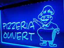 LK188- Pizzeria Ouvert OPEN Pizza LED Neon Light Sign home decor crafts(China)