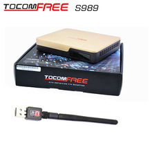 South America receptor de satelite sks iks TocomFREE S989+usb wifi Satellite Receiver IPTV TWIN TUNER