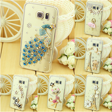 Case Cover For Samsung Galaxy S6 & S6 Edge For Samsung S6 Edge Plus & S7 & S7 Edge Luxury rhinestone Mobile Phone Case Cover(China)
