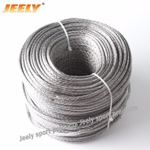 Free Shipping Hollow Braid 4mm 50M 12 Strands Sailboat Winch Towing Ropes(China)