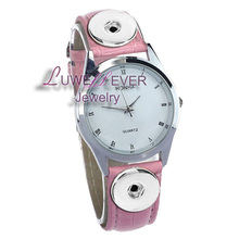 Top Hot Sale 001 Charm Bracelets Bracelet One Direction Retro Watch PU Leather Snap Button Bracelet ( Fit 18mm button)