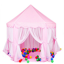 Portable Princess Castle Children Activity Fairy House Playpens Kids Indoor Outdoor Backyard Playhouse Baby Beach Tent Fence(China)