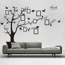 2017 New Arrival 180*250cm 3D DIY Photo Tree PVC Wall Decals Adhesive Wall Stickers Mural Art Home Decoration Accessories Poster(China)