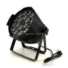 10pcs/lot LED Par 18x15W RGBWA 5in1 LED Par Can LED Spotlight DJ projector Wash Lighting Stage Uplight Aluminum Alloy