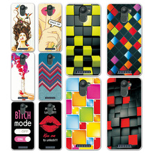 "New Rainbow Grid style Painted Cases For BQ U Plus 5.0"" Back Cover Soft Silicone Coque Capa For BQ Aquaris U Plus Phone Case"