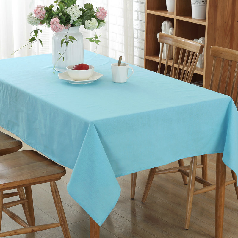 Wedding table cloth decoration rectangular Cotton Linen tablecloth overlay table cover for wedding event party hotel banquet(China)