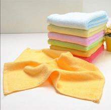 10pcs/lot Promotion 24*26cm pure soild hand face towel 100% Bamboo Fiber child baby towel FG021