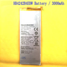 1PCS HB4242B4EBW 3000mAh Replacement Battery For Huawei Honor 6 H60 L01 L02 L11 L10 Phone Free Shipping + Track Code