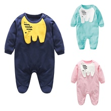 2017 Spring Autumn Boys Girls Lovely Elephants Print Long Sleeve Baby Clothes Children's Rompers Jumpsuit