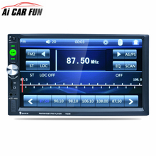 "7023B 7"" Inch Car 2DIN Touch Screen Auto Radio Video Audio MP4 MP5 Player 1080P HD TFT Bluetooth FM/USB/AUX + Rear View Camera(China)"