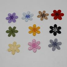 10pcs sunflower flower dress striped patch stickers DIY clothes iron patch custom embroidery badge