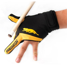 High Quality Cue Billiard Pool Shooters 3 Fingers Left hand Gloves Nine-ball French Billiard Gloves Snooker Billiard Accessories(China)