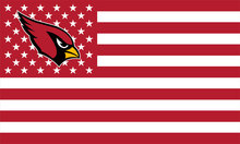 Arizona Cardinals America Football Star-Spangled 100D Polyester Banner Flag 90*150 CM(China)
