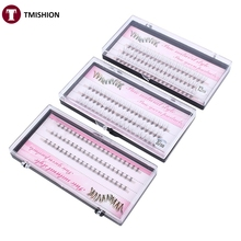 8/10/12mm 60 Bundle/Set False EyeLashes Extension Kits Individual Cluster Natural Long Grafted Fake Eyelashes Beauty Makeup Tool