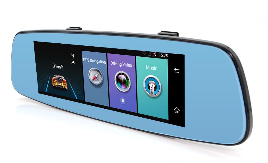 "Junsun 4G ADAS Car DVR Camera Digital Video recorder mirror 7.86"" Android 5.1 with two cameras dash cam Registrar black box 16GB 55"