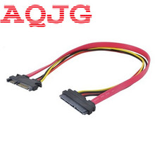 SATA Extender Cable 22Pin Male to Female 7+15 Pin Serial ATA SATA Data Power Combo Extension Cables Cord 30CM  AQJG