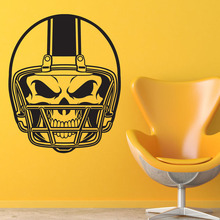 DCTOP American Football Helmet Skull Wall Stickers For Kids Bedroom Wall Decorative Vinyl Wall Decals