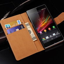Genuine Leather Case For Sony Xperia Z L36h With Stand Design Luxury Mobile Phone Back Cover For Sony Xperia Z Cases New 2016