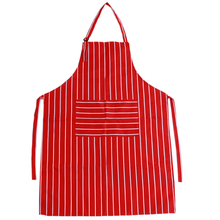 Kitchen Apron for Women Men Useful Cooking Apron Black and White Grid Hot Sale Adjustable Black Stripe GI874014