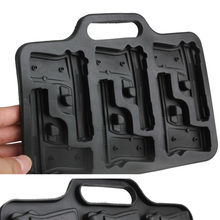 Party Drink Ice Cube Tray Cool Pistol Gun Style Ice Cube Mold Ice Cream Maker Mould Tool Kitchen Bar Accessories(China)