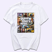 Grand Theft Auto 3D XBOX GTA 5 Fancy Men T Shirt Short Sleeve Street Style High Quality Cotton Multiple Styles Man T-shirt(China)