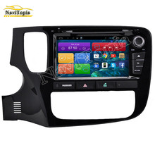 NAVITOPIA 1024*600 8 inch Quad Core Android 6.0 Car DVD Player for Mitsubishi Outlander New 2013 2014 2015 2016- 3G Wifi