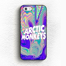 0634 Psychedelic Arctic Monkeys Logo Arctic MONKEYS ALEX TURNER Design cell phone bags case cover for iphone 5S 5C SE 6S 7 PLUS