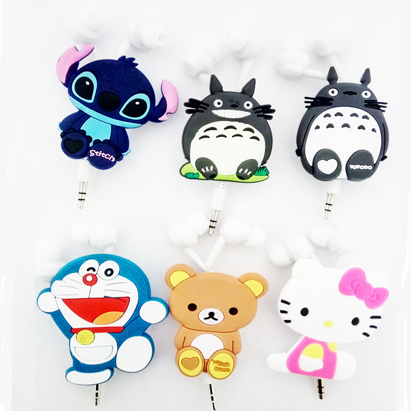 2016 New Good Gift 3.5mm Cartoon Earphone cat headphone headset earbuds retractable headphones For Samsung Xiaomi HTC MP3 MP4(China)