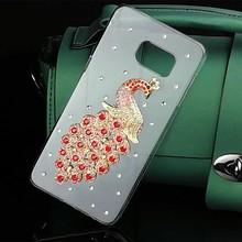 Luxury Peacon Birds Case for Samsung S6 Edge Plus Crystal PC Hard Diamond Cover for Samsung J5/J7 2016/2017 A3 2017 Funda Coque