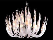 Italy Murano Glass Chandeliers Light Modern Flame Chandelier Light Creative Art Glass chandelier Light (32 Head) Free shipping(China)