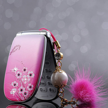 MAFAM A1 small woman kids girls cute Vibration flower diamond FM MP3 MP4 Camera Recorder mini cell mobile phone cellphone P070