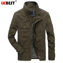 LKBEST High Quality Military Winter Jacket Men Windproof Men's Windbreaker Thick Cotton Coat For Men Outerwear Plus Size (JK13)(China)