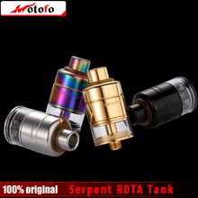 100% Original WOTOFO Serpent RDTA Tank 2.5ml Big Clamped Deck for Big Size Coil Electronic Cigarette Serpent RDTA Atomizer(China)