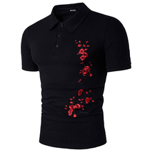 Chinese Style Polo Shirts Men Brand Fashion Polo Shirt 3d Flower Printing Polo Brand Short Sleeve Casual Polo Shirts Homme B3977