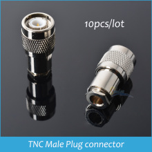 Sindax TNC Male Plug Connector Clamp TNC connectors RG58 RG142 LMR195 RG400 RF Connector TNC-Male Adapter 10pcs Drop Shipping(China)