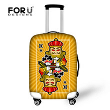 FORUDESIGNS 2017 Novel Piacevole Poke King Travel Suitcase Bags Well-suited Tour Covers Theftproof Functional Trolly Coprire(China)
