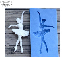 Yueyue Sugarcraft Dancer Silicone mold fondant mold cake decorating tools chocolate gumpaste mold