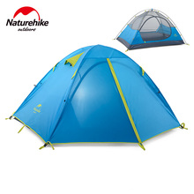 Naturehike Factory Store 2 person/3person/4 person family tent outdoor camping hiking 3 Season Double Layer Windproof Tent(China)