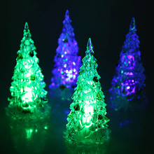 christmas tree LED Colour Changing Desk Table Top kids Merry Christmas Tree toy gifts Night Light Decoration Gift Festive Party