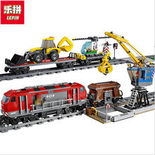 Lepin 02009 1033pcs Building Block Compatible with 60098 city Train Rail Train Engineering Vehicle toy hobbies